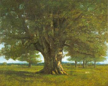 Le Chêne de Flagey appelé aussi le Chêne de Vercingétorix 1864 Huile sur toile Museum of Fine Arts Pennsylvanie